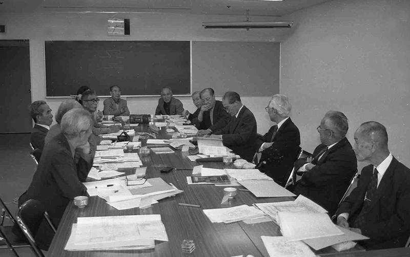 戦艦大和の建造に従事した工員13人の座談会=1994年4月23日、広島県呉市中央6丁目、呉市つばき会館で
